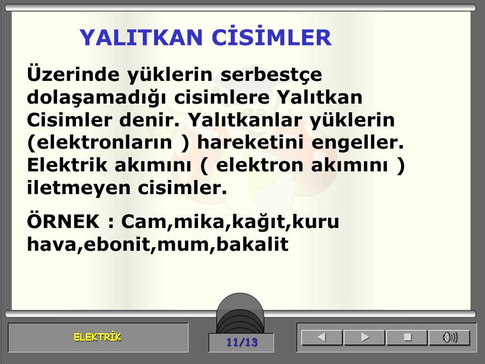 YALITKAN CİSİMLER