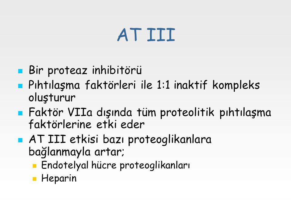 AT III Bir proteaz inhibitörü