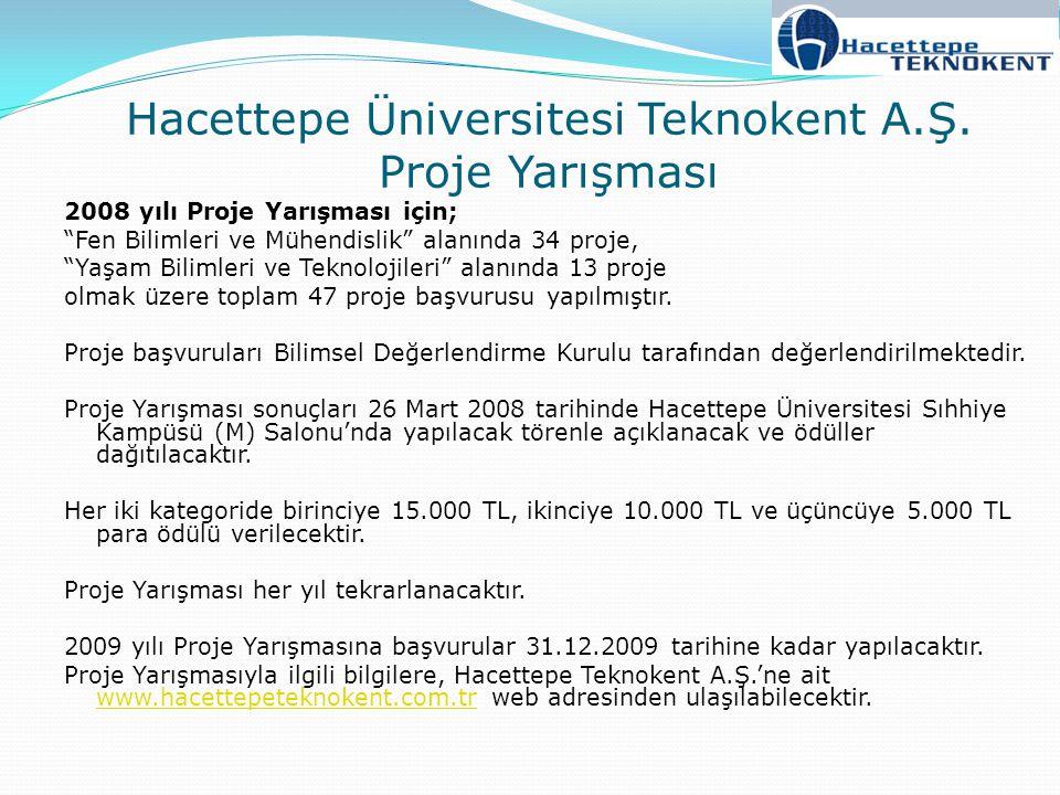 Hacettepe Üniversitesi Teknokent A.Ş. Proje Yarışması