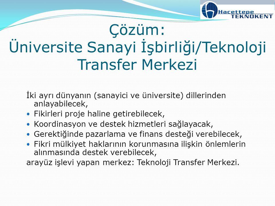 Çözüm: Üniversite Sanayi İşbirliği/Teknoloji Transfer Merkezi