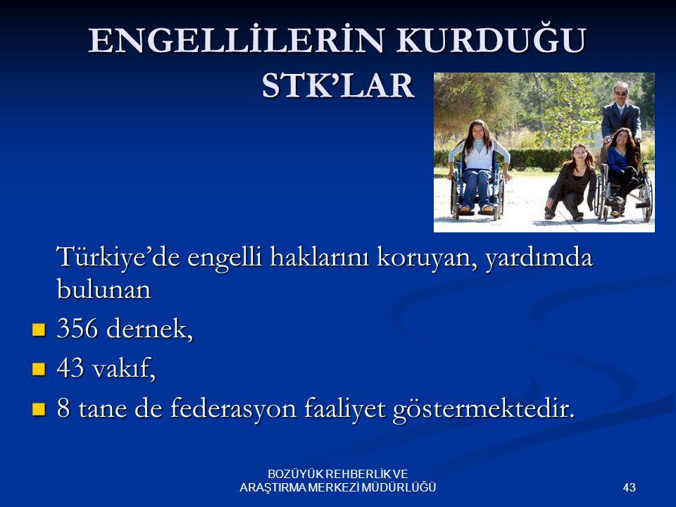 ENGELLİLERİN KURDUĞU STK'LAR