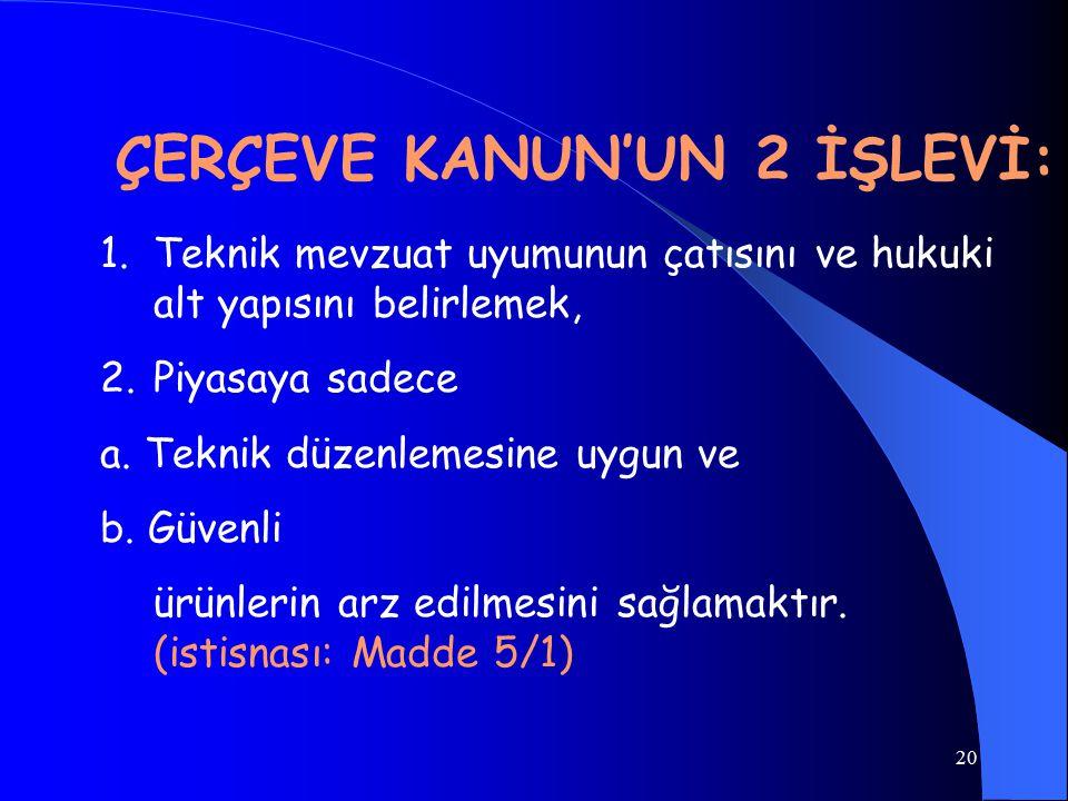 ÇERÇEVE KANUN'UN 2 İŞLEVİ: