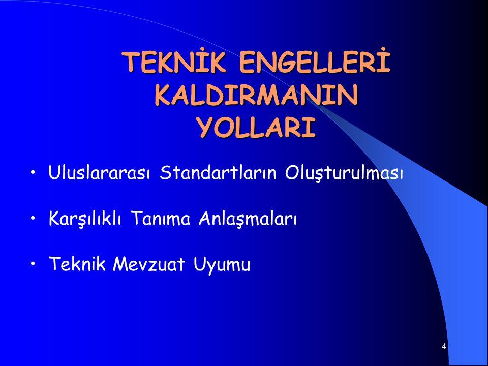 TEKNİK ENGELLERİ KALDIRMANIN