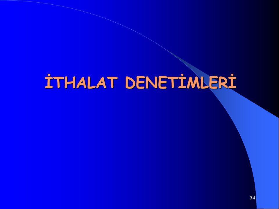 İTHALAT DENETİMLERİ