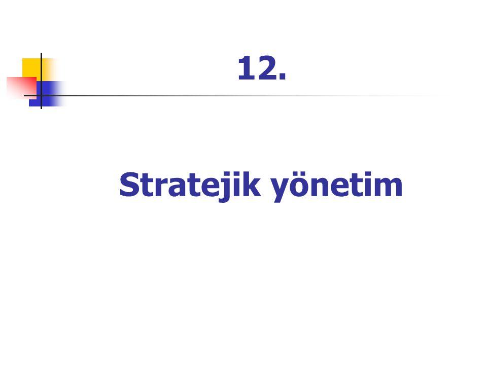 12. Stratejik yönetim
