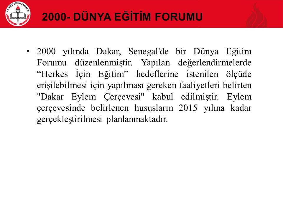 2000- Dünya Eğİtİm Forumu
