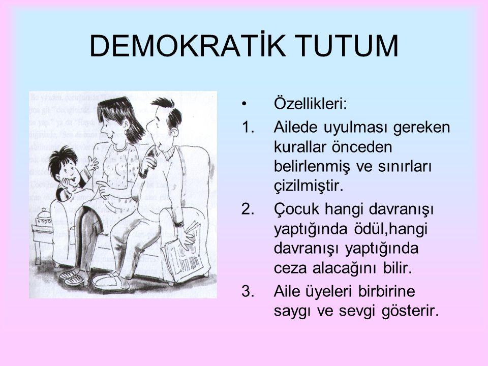 DEMOKRATİK TUTUM Özellikleri: