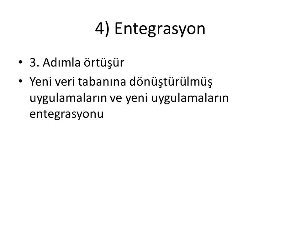 4) Entegrasyon 3. Adımla örtüşür