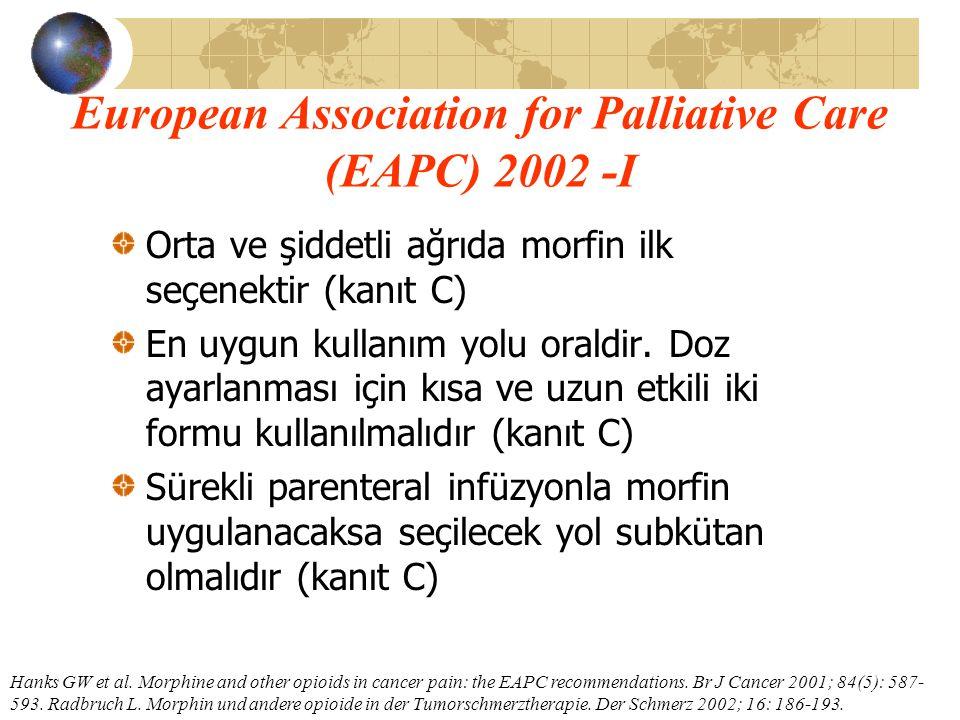 European Association for Palliative Care (EAPC) 2002 -I