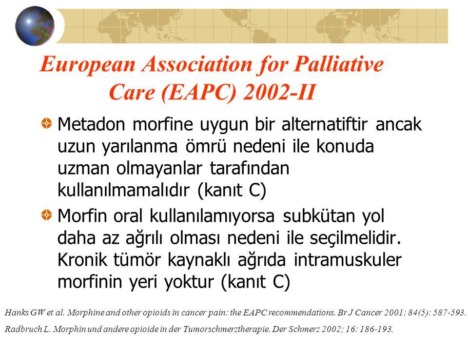 European Association for Palliative Care (EAPC) 2002-II