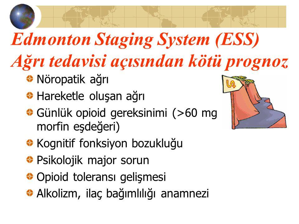 Edmonton Staging System (ESS) Ağrı tedavisi açısından kötü prognoz