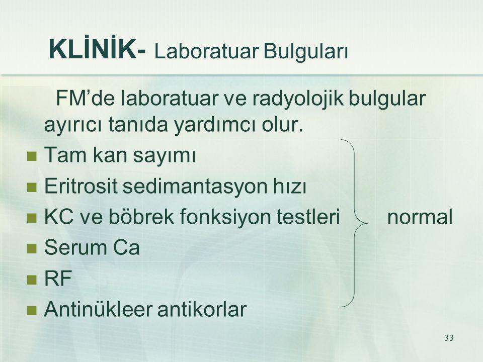 KLİNİK- Laboratuar Bulguları