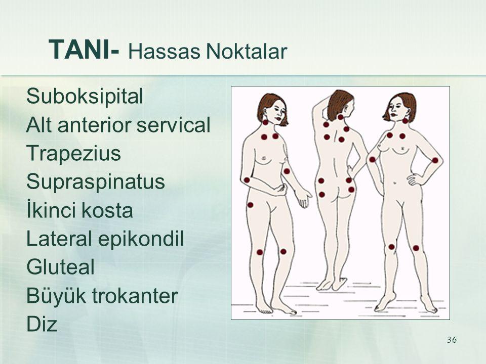 TANI- Hassas Noktalar Suboksipital Alt anterior servical Trapezius