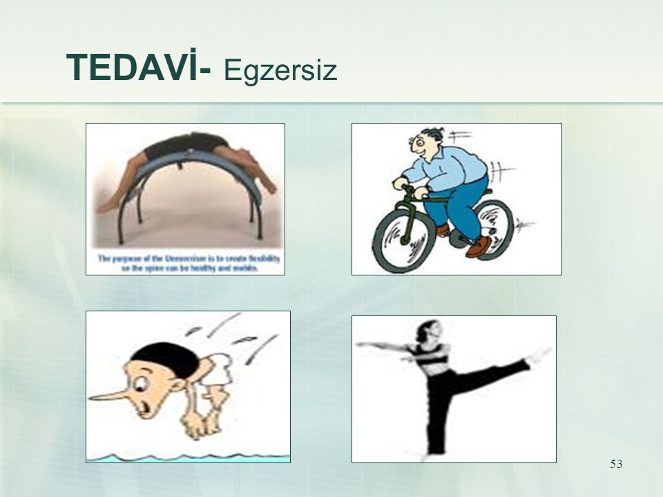 TEDAVİ- Egzersiz
