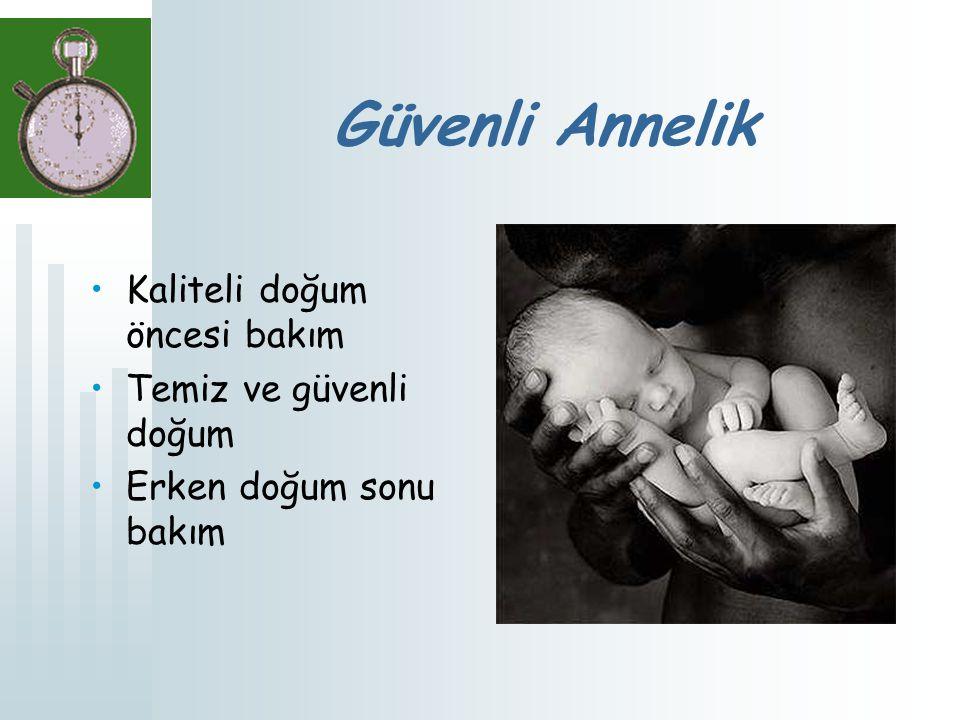 Güvenli Annelik Kaliteli doğum öncesi bakım Temiz ve güvenli doğum