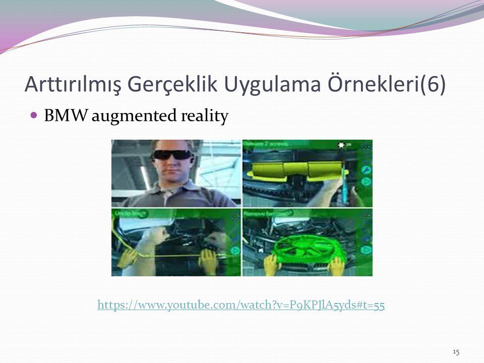 Arttırılmış Gerçeklik Uygulama Örnekleri(6)