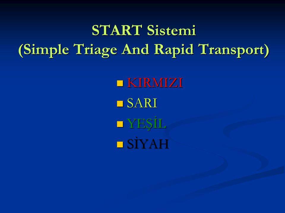 START Sistemi (Simple Triage And Rapid Transport)