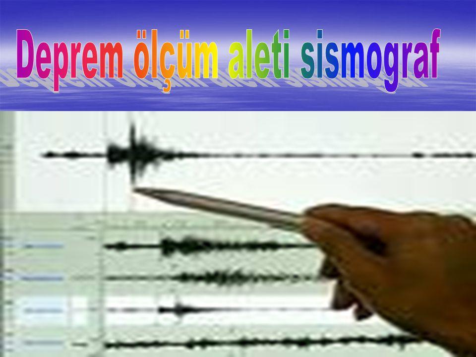 Deprem ölçüm aleti sismograf