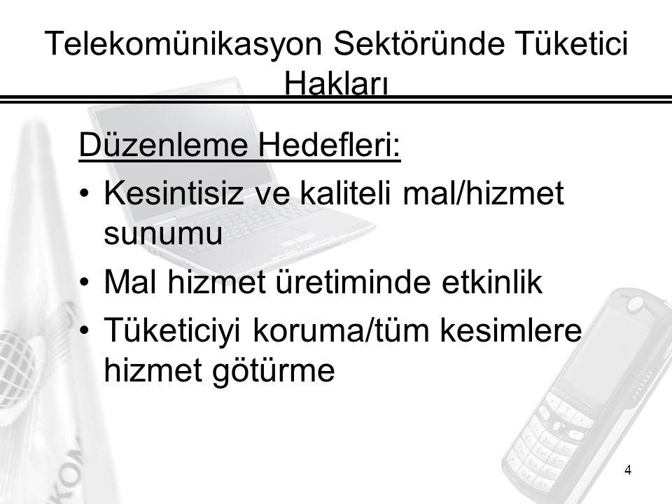 Telekomünikasyon Sektöründe Tüketici Hakları