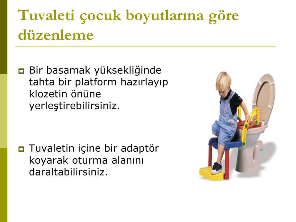Tuvaleti çocuk boyutlarına göre düzenleme