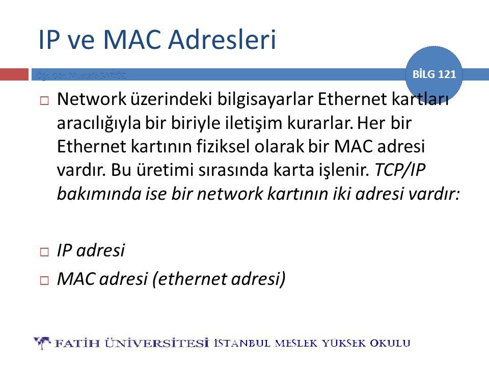 IP ve MAC Adresleri