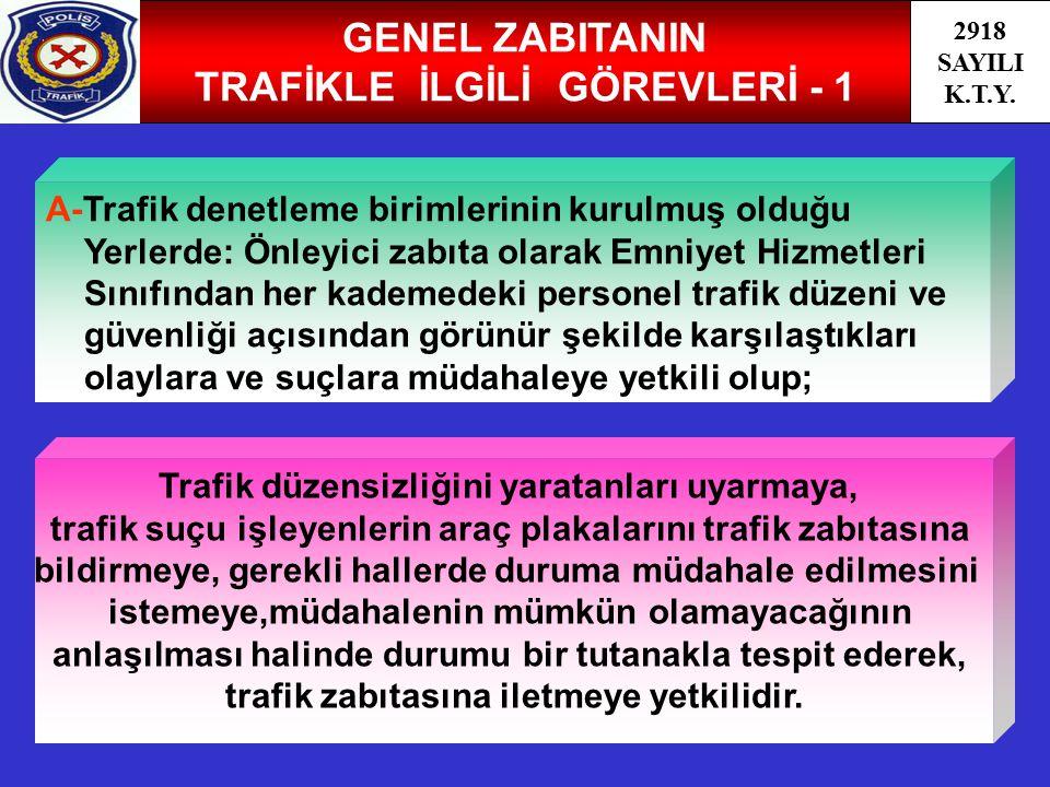 GENEL ZABITANIN TRAFİKLE İLGİLİ GÖREVLERİ - 1