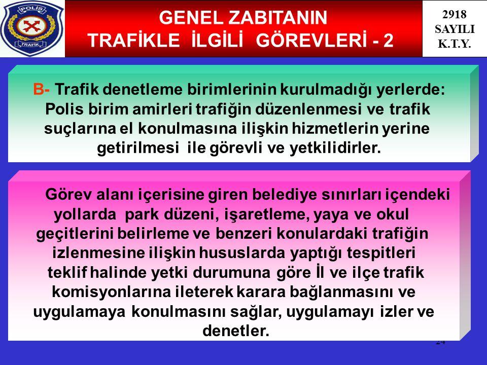 GENEL ZABITANIN TRAFİKLE İLGİLİ GÖREVLERİ - 2