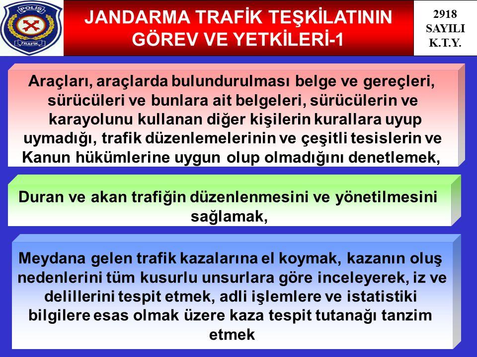 JANDARMA TRAFİK TEŞKİLATININ GÖREV VE YETKİLERİ-1