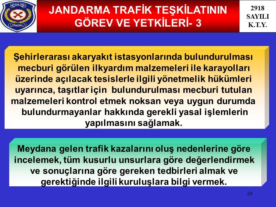 JANDARMA TRAFİK TEŞKİLATININ GÖREV VE YETKİLERİ- 3