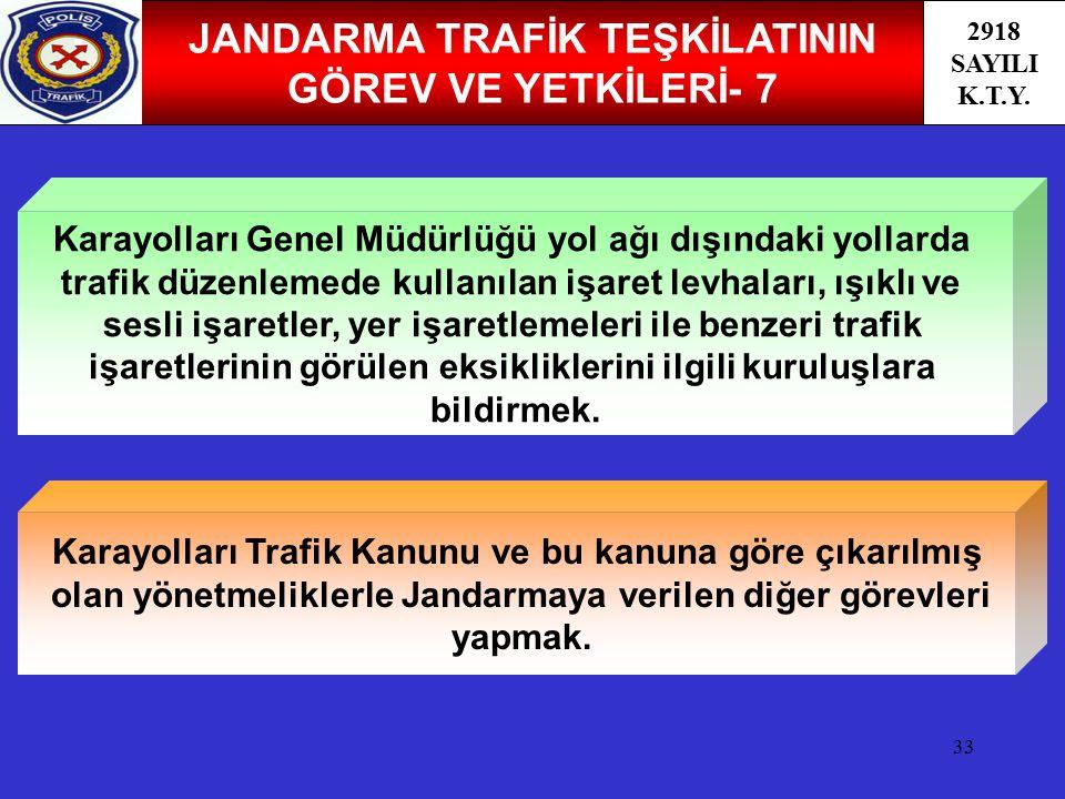 JANDARMA TRAFİK TEŞKİLATININ GÖREV VE YETKİLERİ- 7