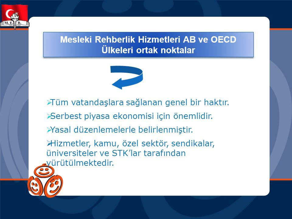 Mesleki Rehberlik Hizmetleri AB ve OECD Ülkeleri ortak noktalar