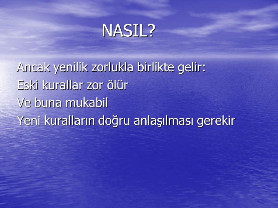 NASIL Ancak yenilik zorlukla birlikte gelir: Eski kurallar zor ölür