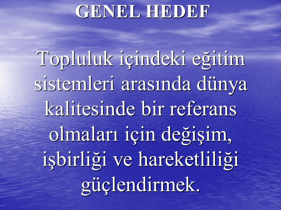 GENEL HEDEF