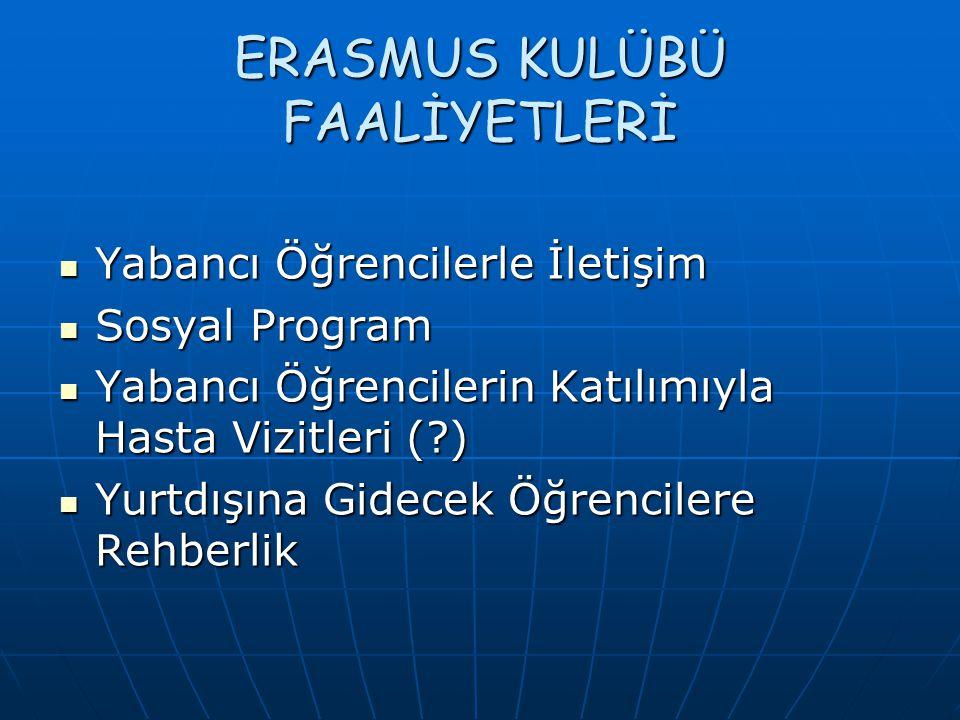 ERASMUS KULÜBÜ FAALİYETLERİ