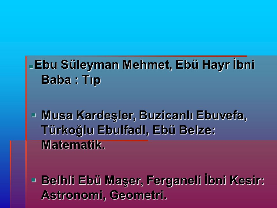 Ebu Süleyman Mehmet, Ebü Hayr İbni Baba : Tıp