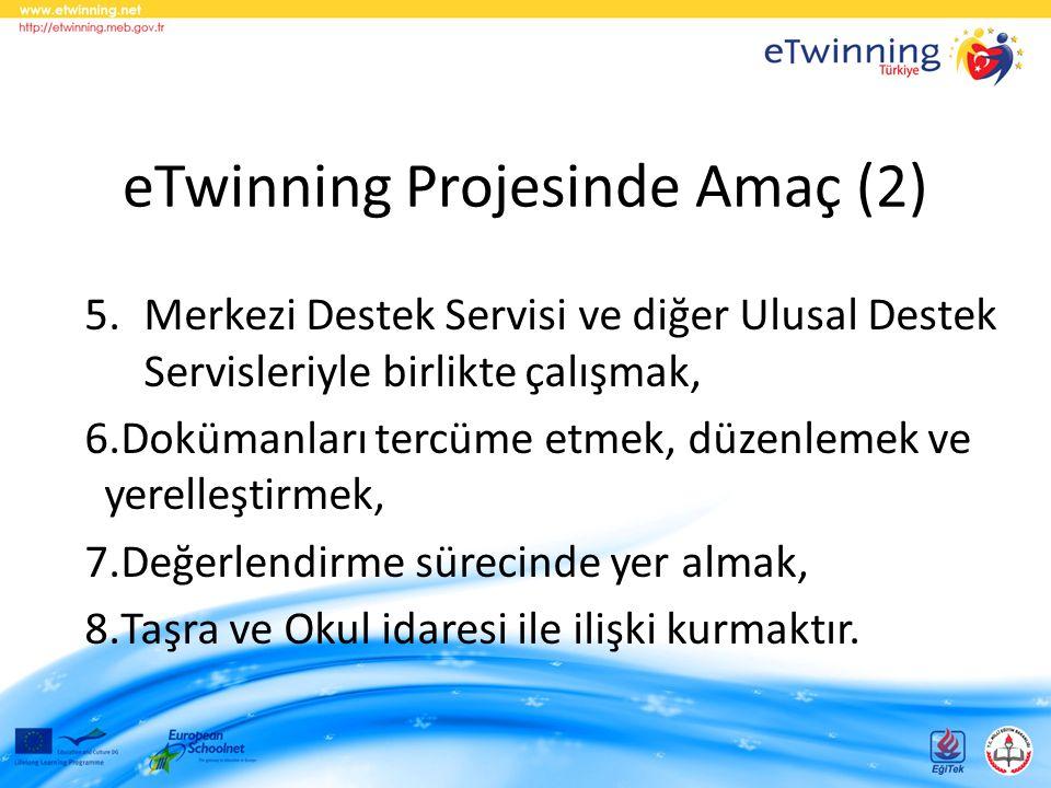 eTwinning Projesinde Amaç (2)