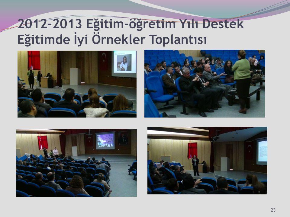 2012-2013 Eğitim-öğretim Yılı Destek Eğitimde İyi Örnekler Toplantısı