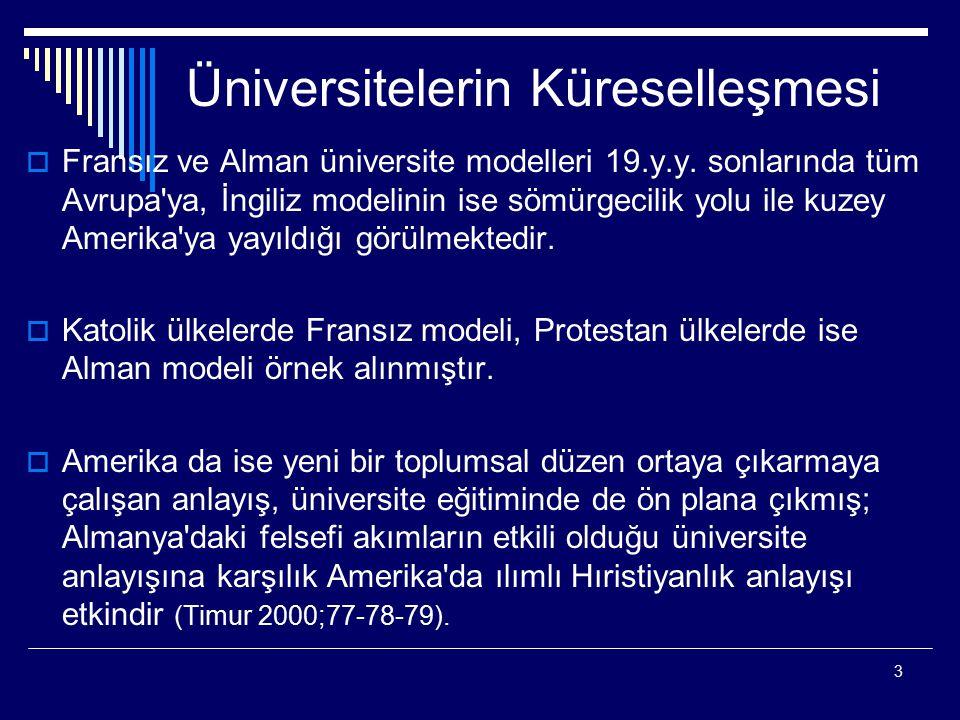 Üniversitelerin Küreselleşmesi