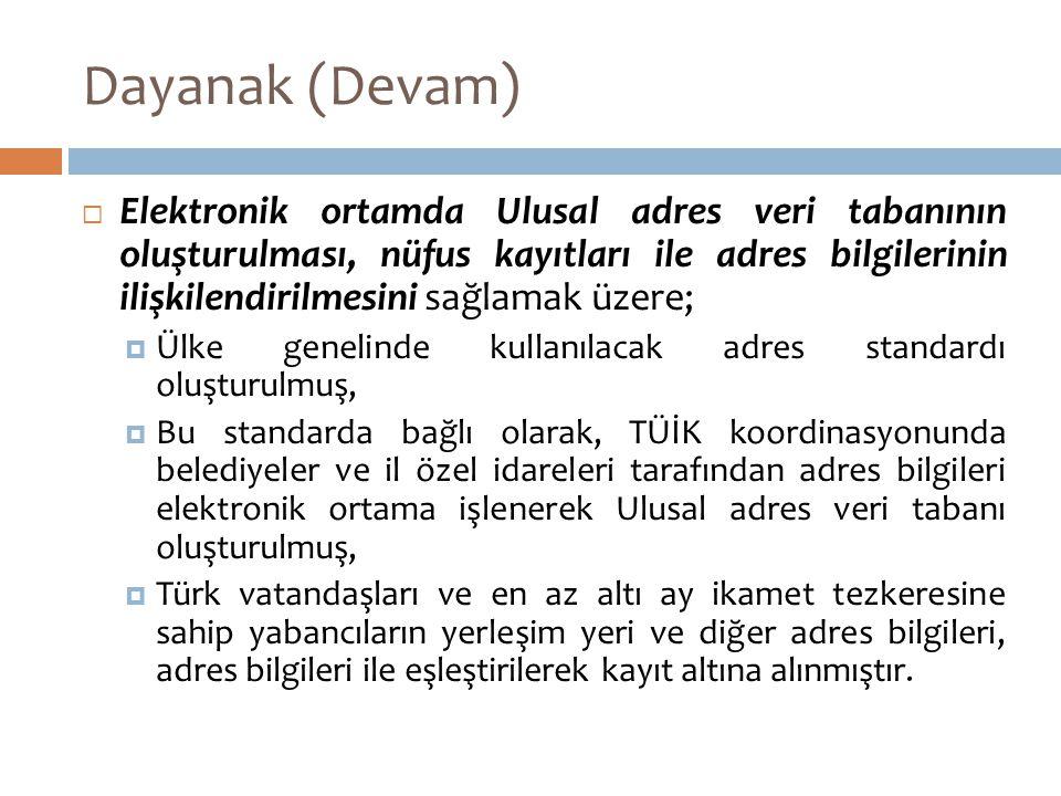 Dayanak (Devam)