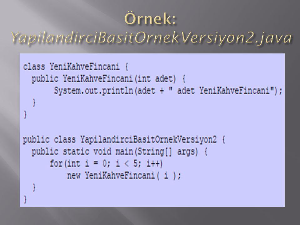 Örnek: YapilandirciBasitOrnekVersiyon2.java