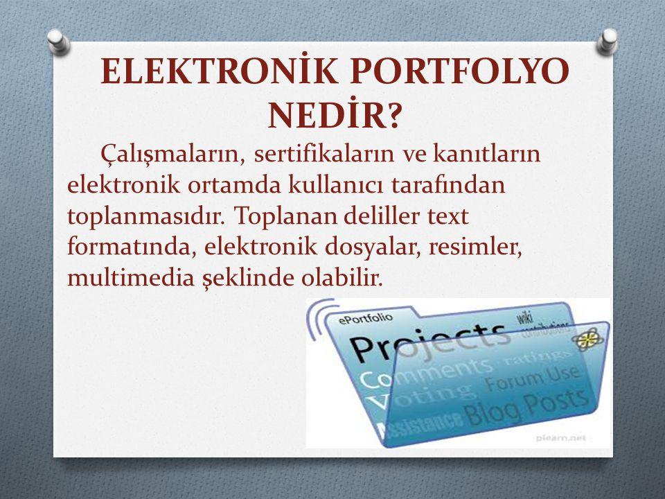 ELEKTRONİK PORTFOLYO NEDİR