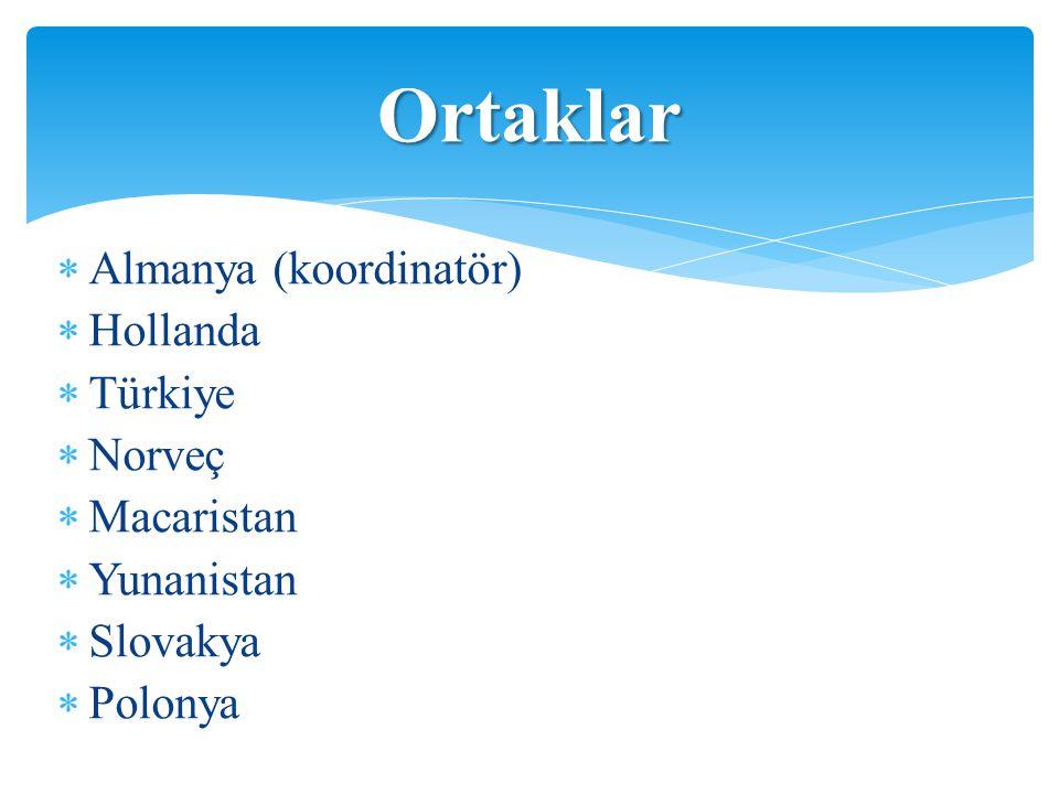 Ortaklar Almanya (koordinatör) Hollanda Türkiye Norveç Macaristan
