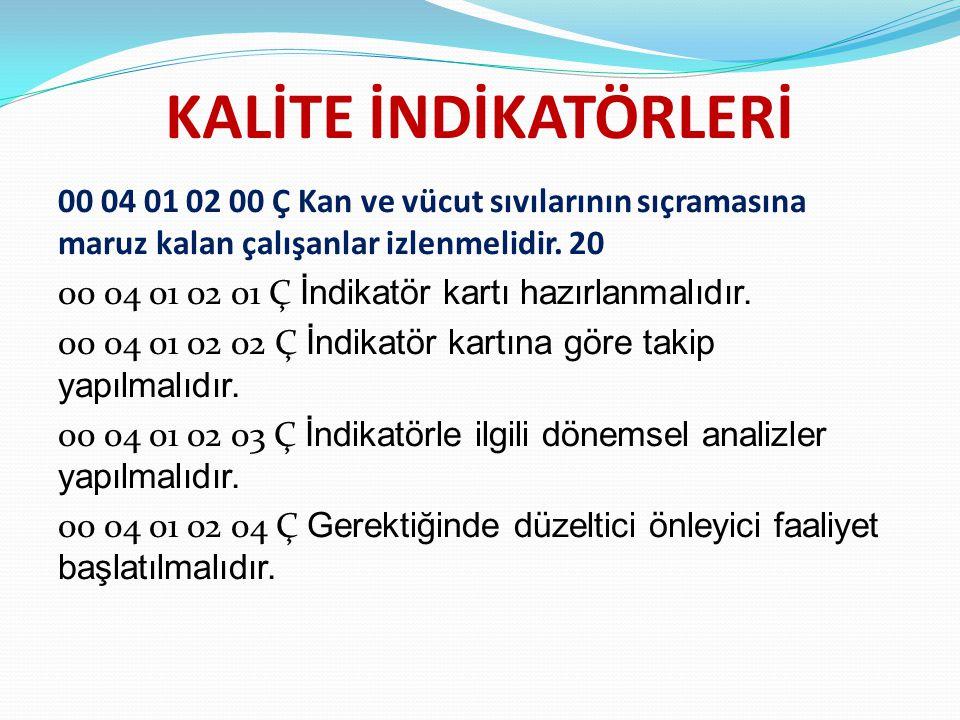 KALİTE İNDİKATÖRLERİ