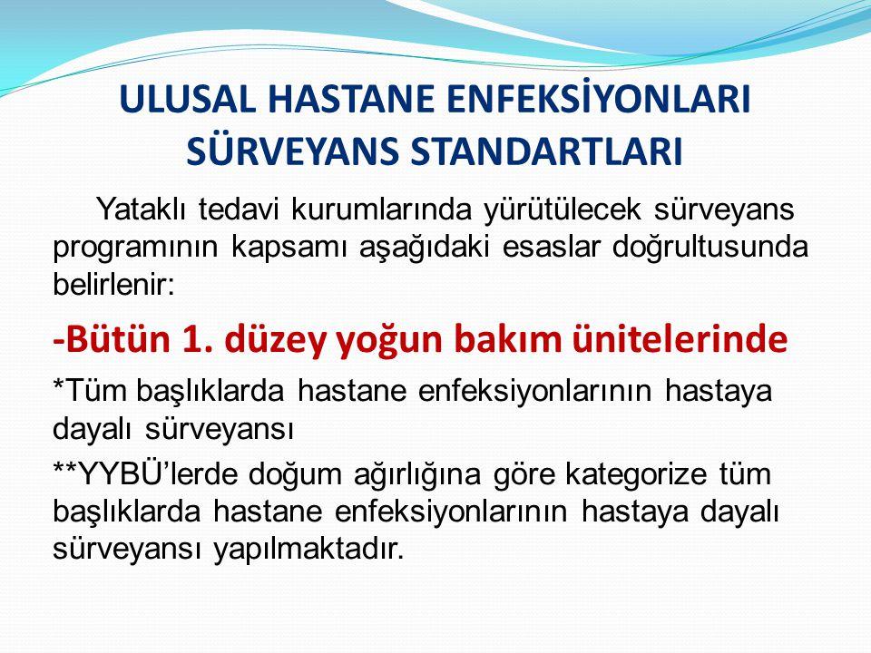ULUSAL HASTANE ENFEKSİYONLARI SÜRVEYANS STANDARTLARI