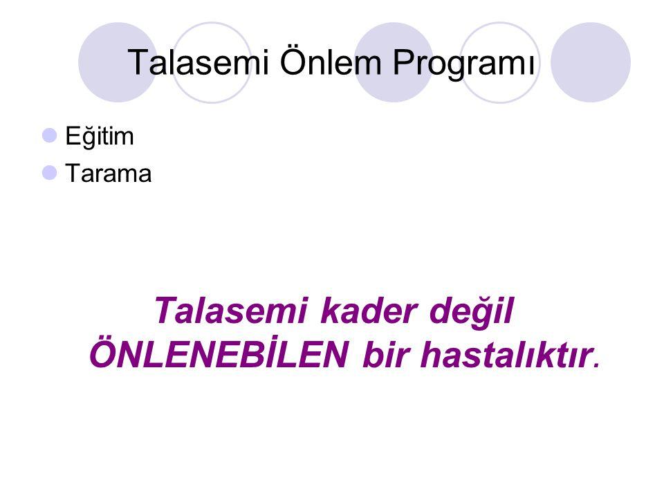 Talasemi Önlem Programı