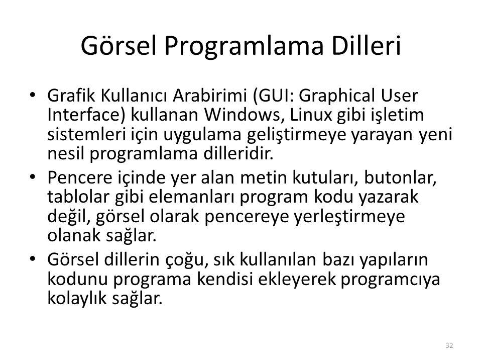 Görsel Programlama Dilleri