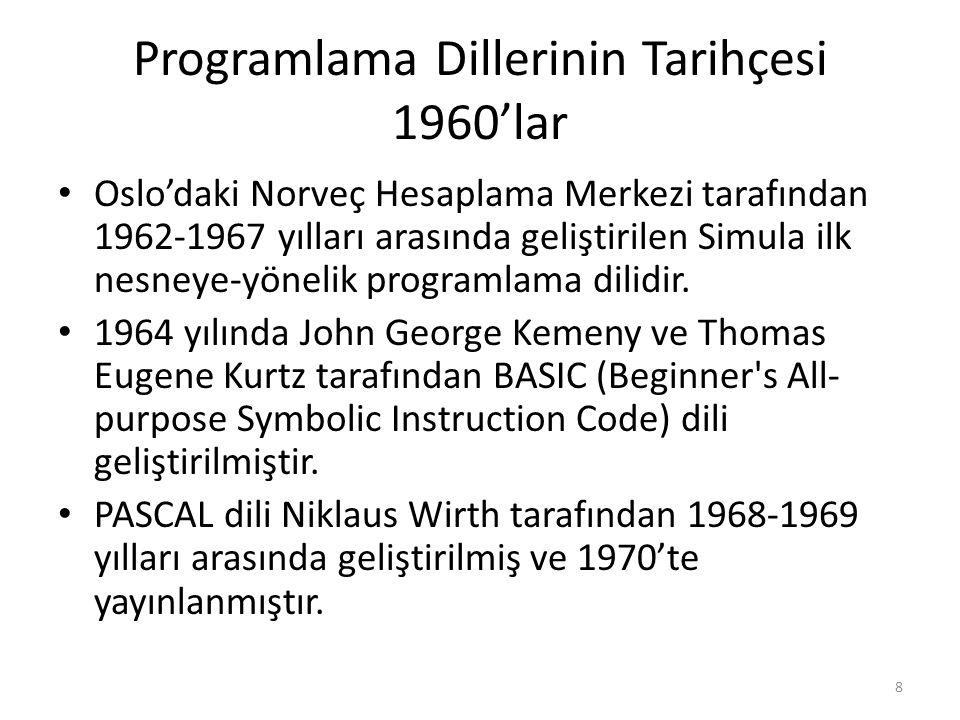 Programlama Dillerinin Tarihçesi 1960'lar