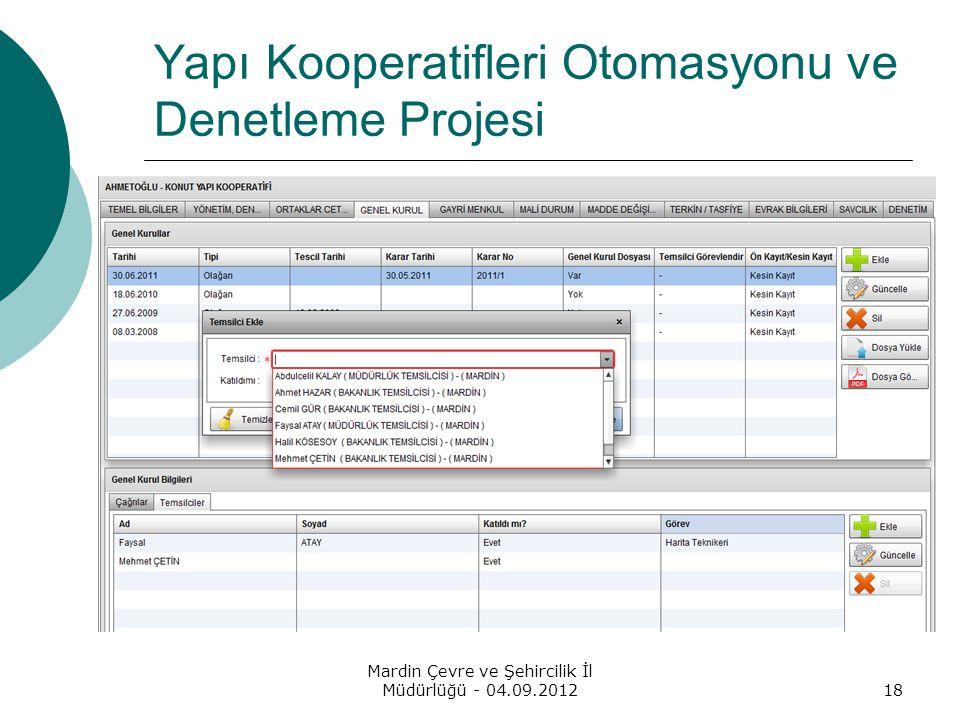 Yapı Kooperatifleri Otomasyonu ve Denetleme Projesi