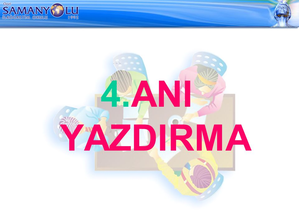 4.ANI YAZDIRMA