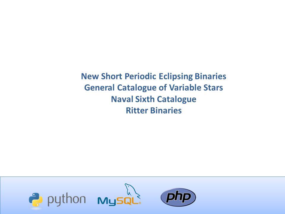 New Short Periodic Eclipsing Binaries